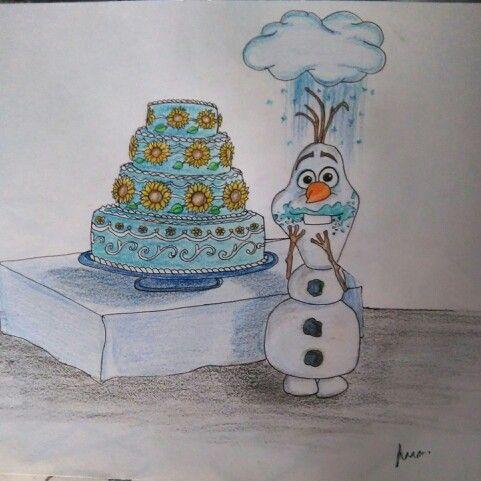 Olaf! Lápices de colores