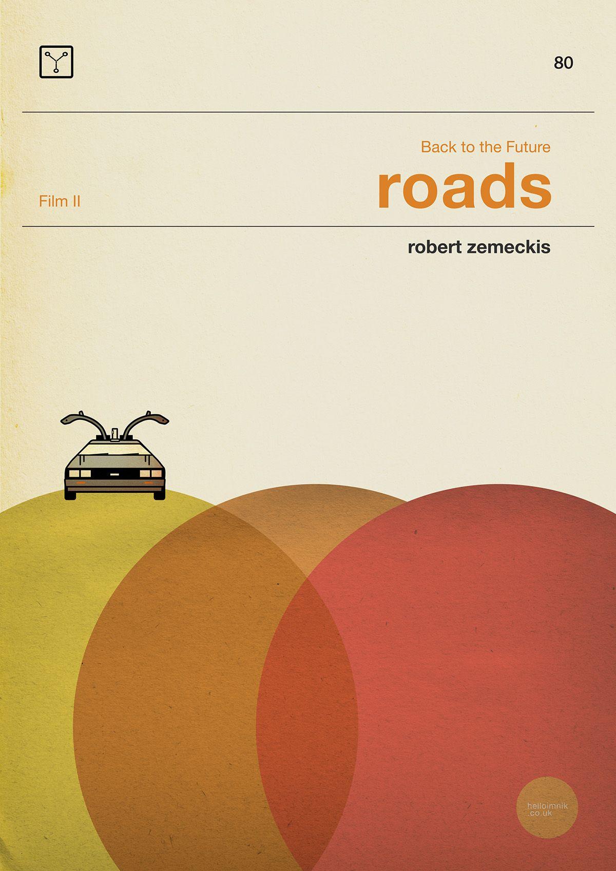 Back To The Future 'Roads...' alternative design homage to Penguin books | by helloimnik.co.uk