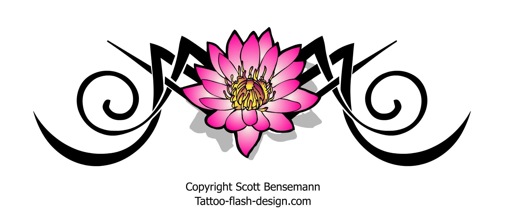 Tribal lotus flower tattoo design things to wear pinterest tribal lotus flower tattoo design izmirmasajfo