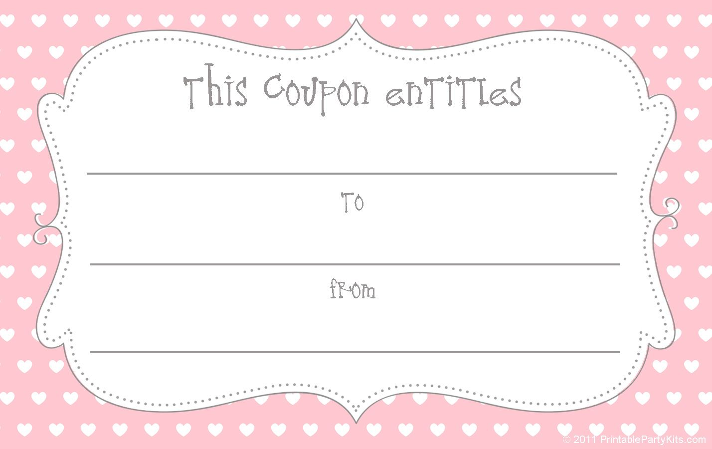 Free Coupon Template Site Loaded With Free Printables Free Coupon Template Coupon Template Free Gift Certificate Template