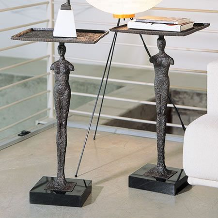 Modern Man End Tables Sculpture By Global Views Available At  AllSculptures.com