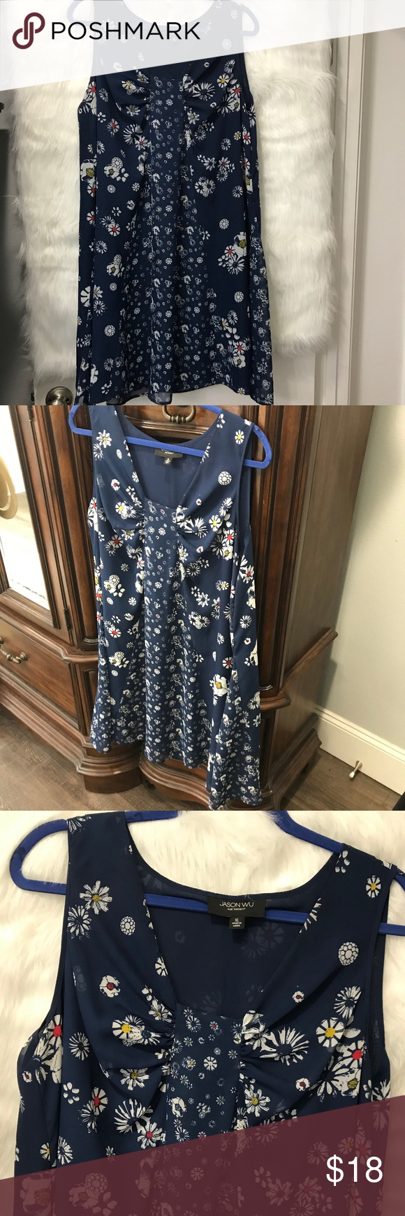 Jason Wu For Target Blue Floral Dress Floral Blue Dress Clothes Design Floral Dress [ 1740 x 580 Pixel ]