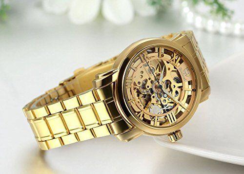 b0d04018e6c0 Regalo de papá Día del padre Jewelrywe Reloj dorado de esfera transparente