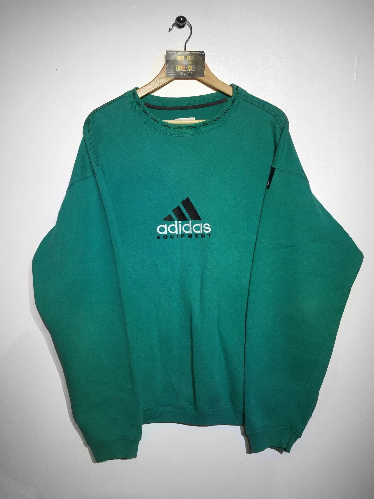 a26f0387 Adidas Equipment Sweatshirt Large (Fits Oversized) – Retro Reflex - Home to  Vintage And Retro Clothing UK
