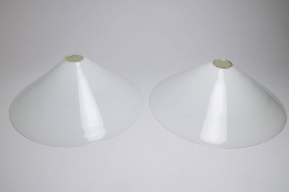 Antique pair of large conical white glass by SimonCurtisAntiques