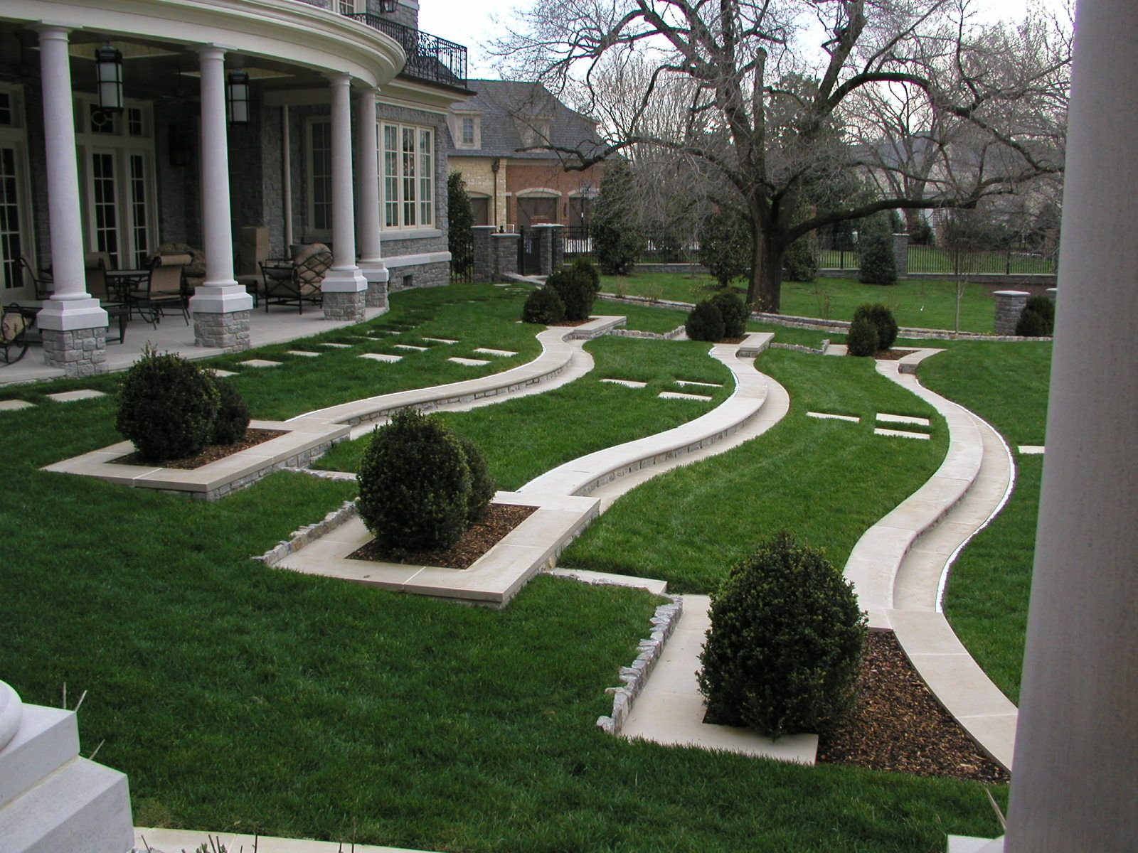 Perfect Awesome Landscaping Plans With Front Yard Landscaping Plans And Backyard  Landscaping Plans : Wonderful Landscaping Plans With Tiered Lawn An. Part 29
