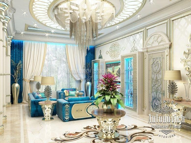 Living room design in dubai living room in oriental style for Arredamento di classe