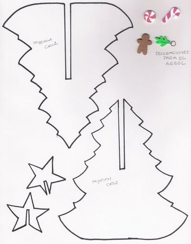Diy 3d Weihnachtsbaum Vorlage Weihnachten Pinterest