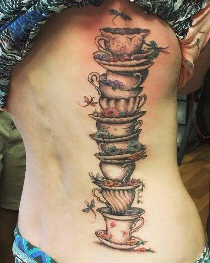 36 Thought Provoking Alice in the Wonderland Tattoos  |Alice Tea Tattoo