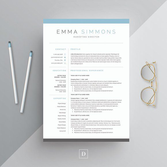 Word Resume \ Cover Letter Template by DemeDev on @creativemarket - most professional resume template