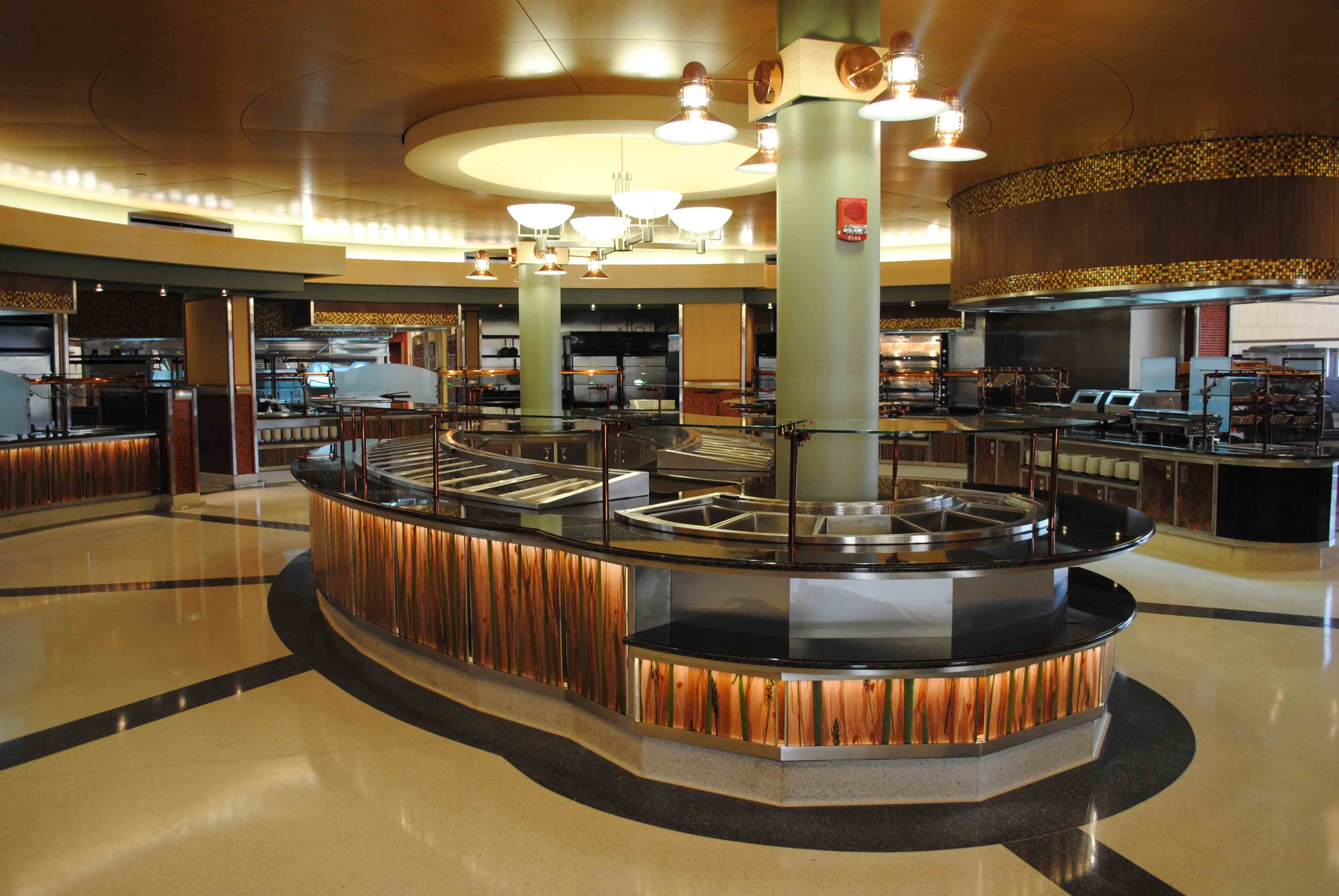 Inside livingston dining commons at rutgers university for U of t dining hall hours