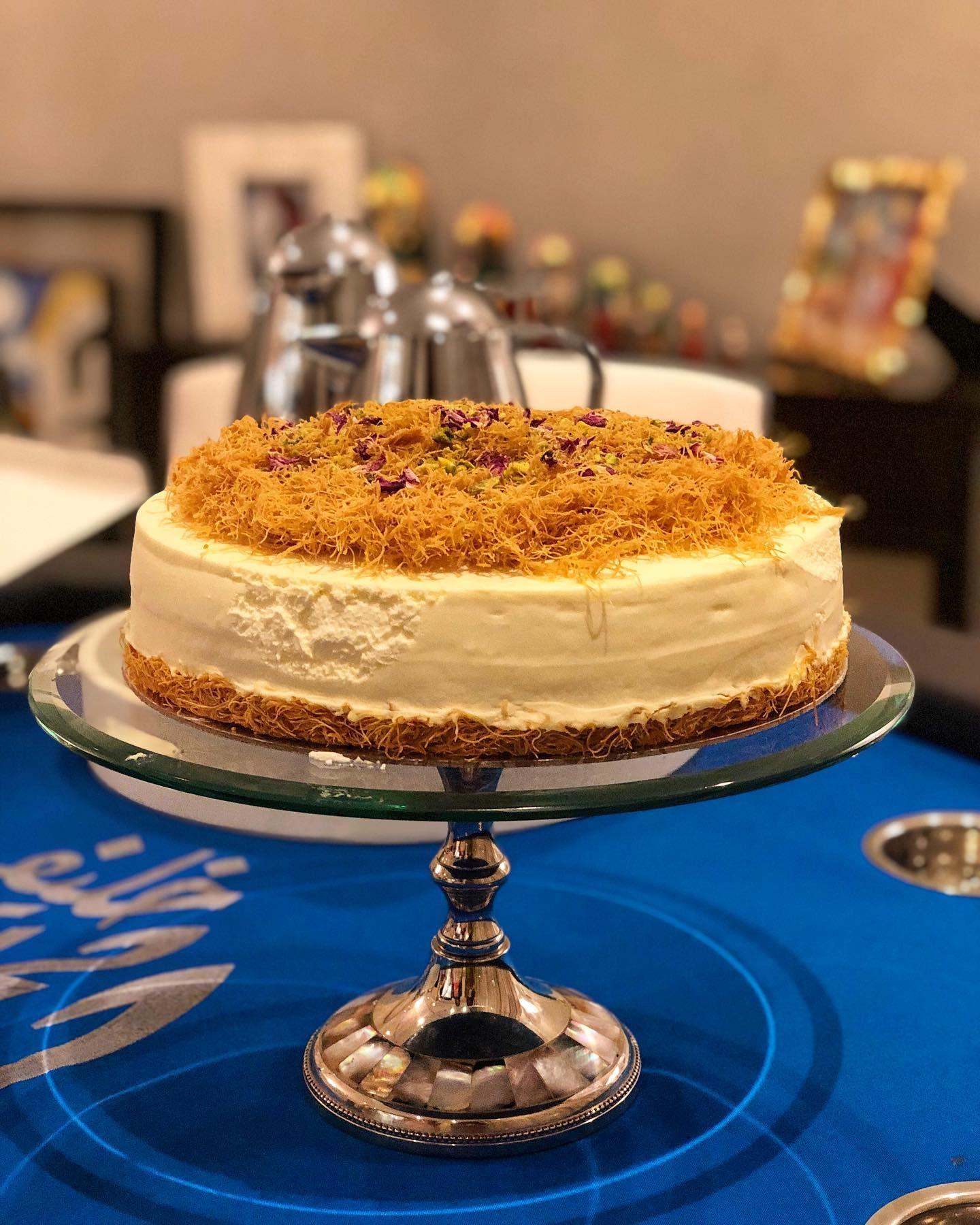 Ramadan Dessert Kunafeh Cheesecake Hausbakery Light Creamy Cheesecake Topped With Crunchy Orange Blossom Infused Vermi Ramadan Desserts Desserts Food