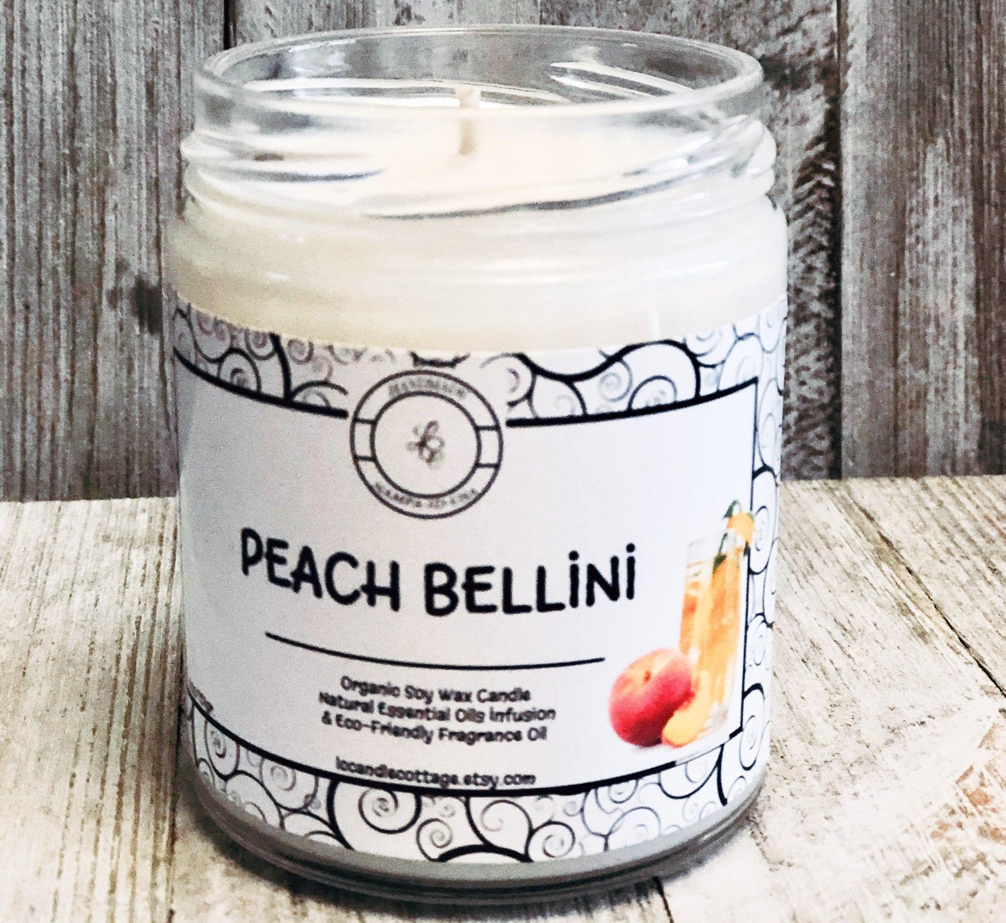 génial  Mot-Clé Peach Bellini Natural  Soy Wax Candle Fun Candles Spring &   Etsy