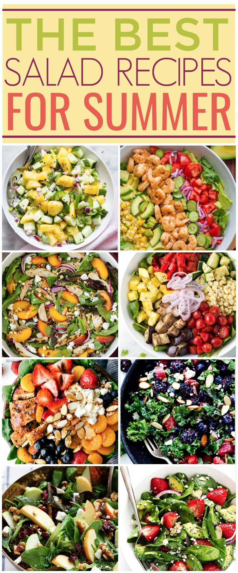 The Best Salad Recipes For Summer Best Salad Recipes Summer Salad Recipes Salad Recipes