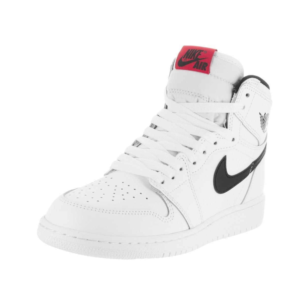 discount online store buying new Nike Jordan Kids Air Jordan 1 Retro High White Leather ...