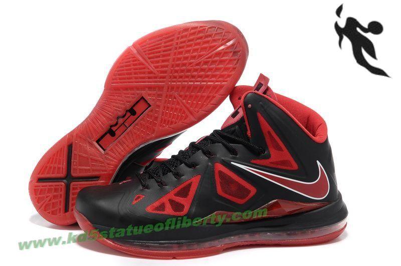 Black · Nike Lebron X (10) Black University Red Metallic Silver ...