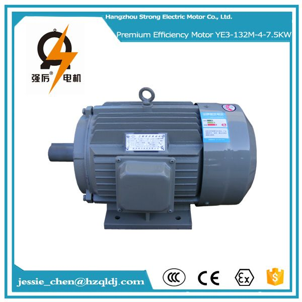 7 5kw 10hp Ac 380v 3 Phase High Efficiency Induction Electric Motor Electric Motor Efficiency Motor