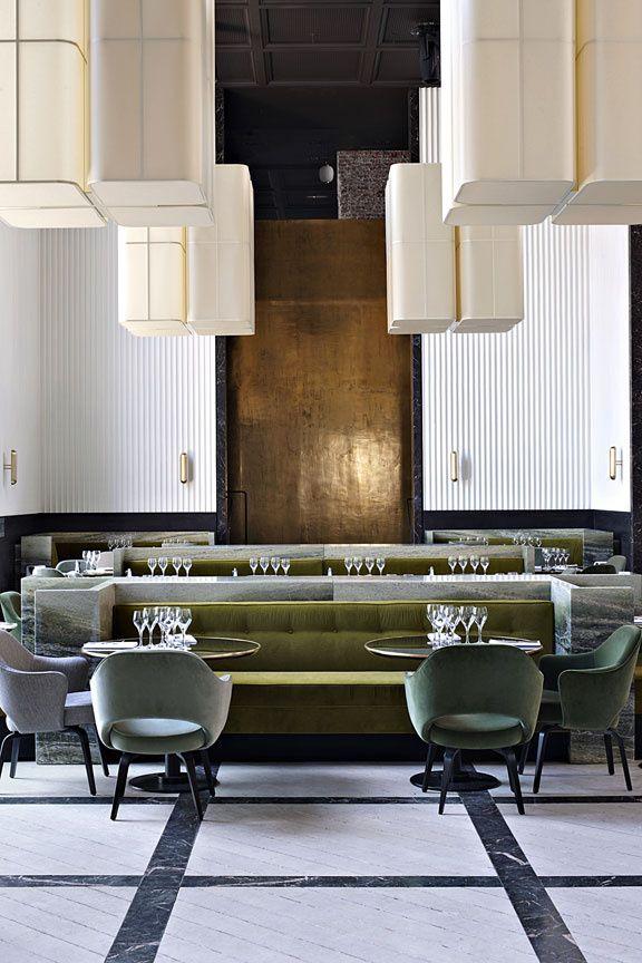 L Adresse Du Mois Monsieur Bleu Decoration Interieure Moderne Interieur De Restaurant Restaurant De Luxe