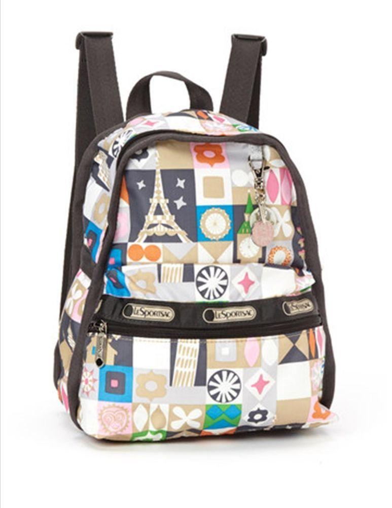 09adab98fcc Lesportsac Disney It s a Small World Global Journey Mini Basic Backpack NWT  RARE