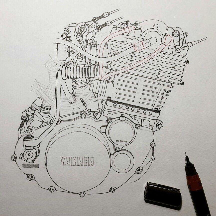 Next step Penwork. ⚡ . . #yamaha #sr400 #sr500 #fcr # ...