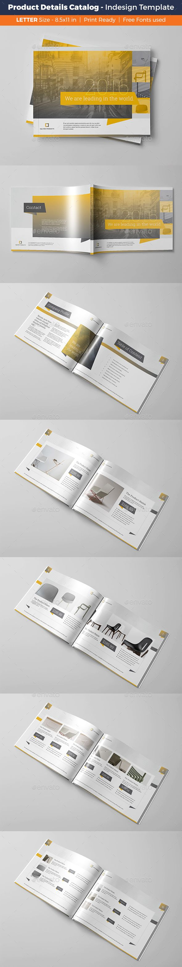 Product Details Catalog Template InDesign INDD. Download here: http ...