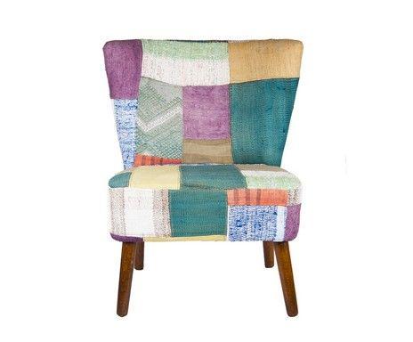 Sedia fatta a mano in cotone e lana METAMORPHOSE - 75x75 cm