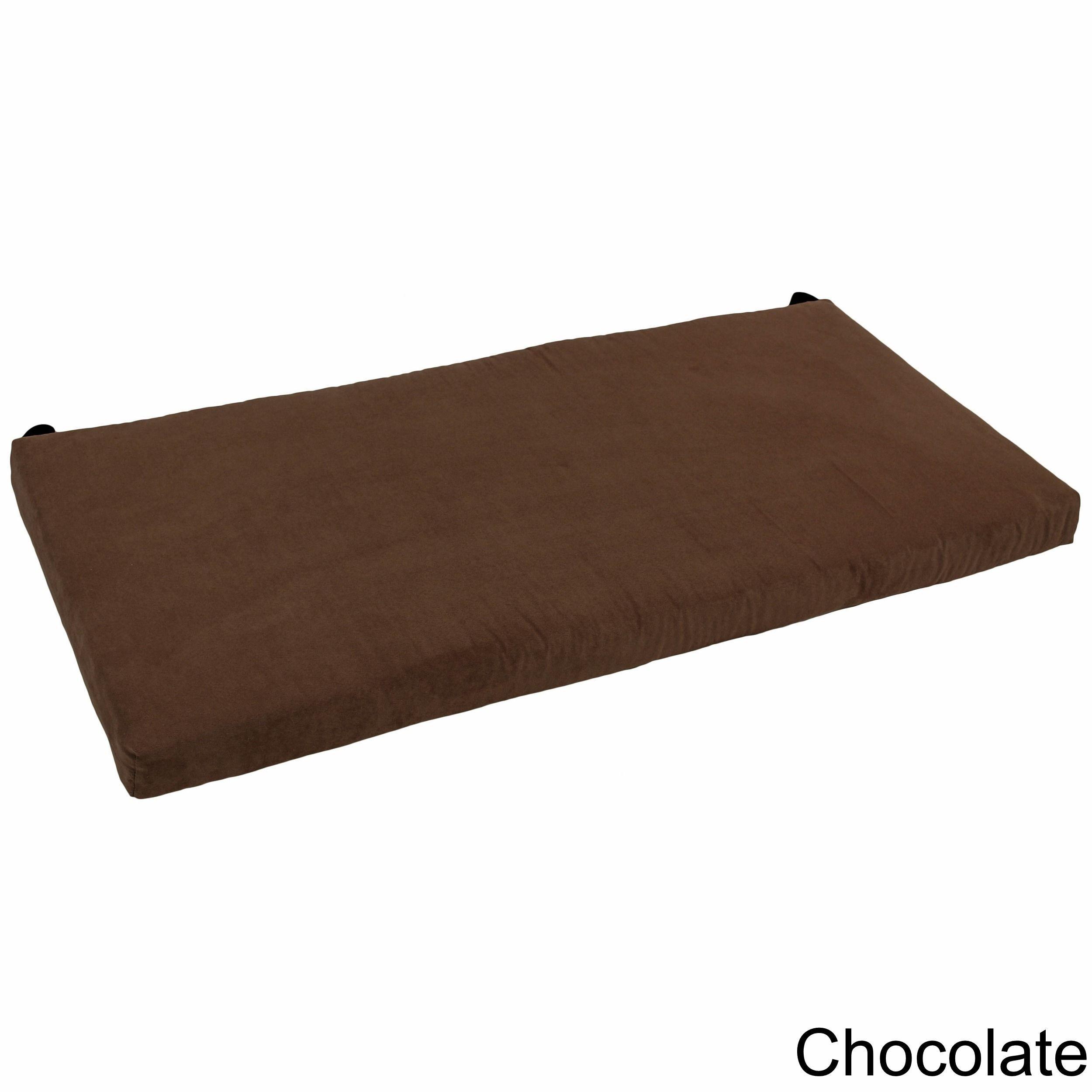 Blazing Needles 42-inch Microsuede Indoor Bench Cushion (Java ...