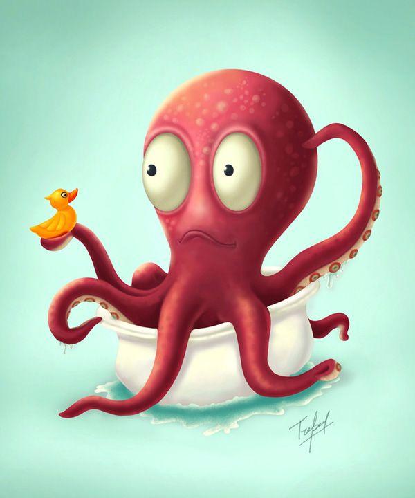 Octopus Character #octopus #character | Animal Cartoon ...