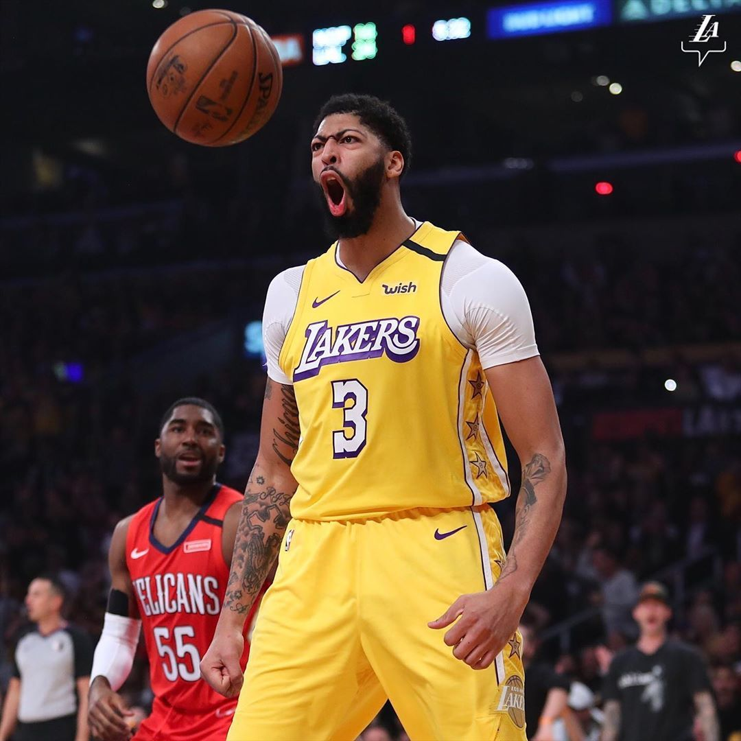 Los Angeles Lakers On Instagram Dejavu In 2020 Los Angeles Lakers Anthony Davis Nba League Pass