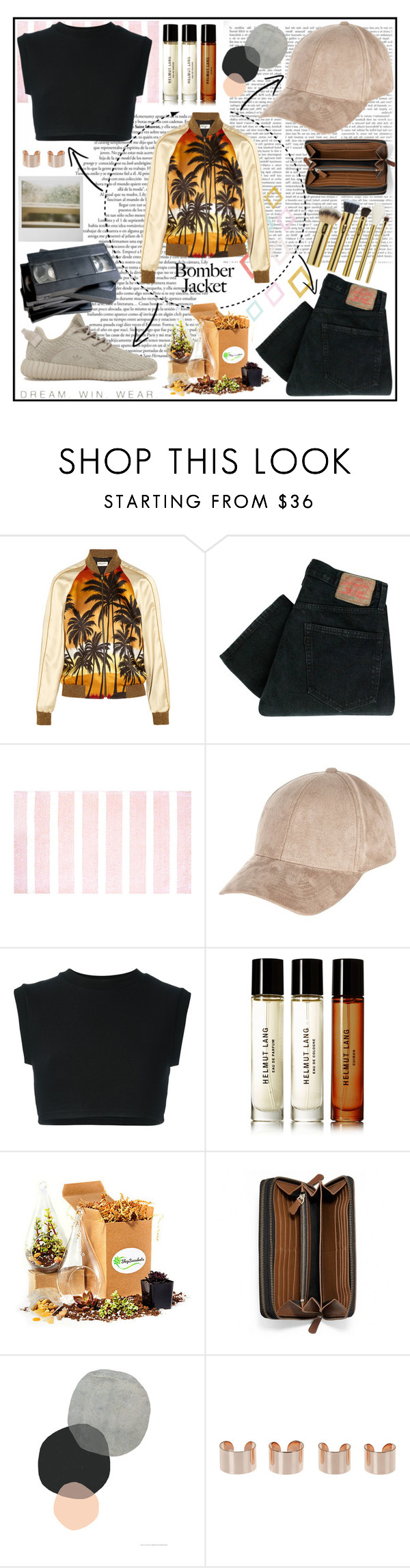 """#183"" by dana-bullsfan ❤ liked on Polyvore featuring Yves Saint Laurent, Levi's, Shabby Chic, River Island, adidas Originals, Helmut Lang, Shop Succulents, Polaroid, Coach and Maison Margiela"