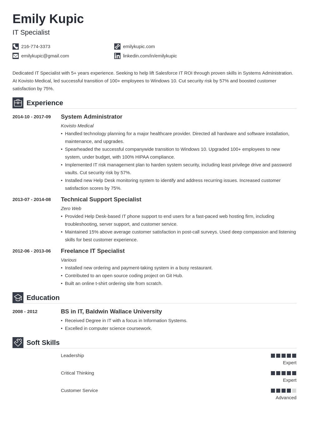 technical resume example template iconic in 2020 Job