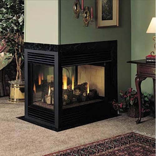 FMI Balboa 36 Inch Direct Vent 3-Sided Fireplace - Natural Gas So ...