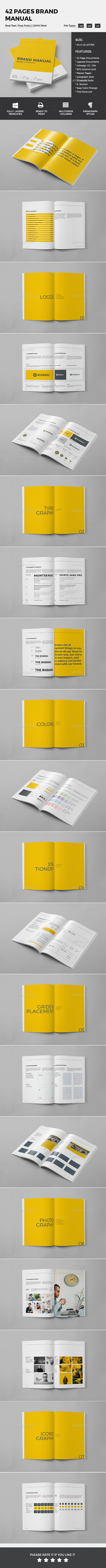 Brand Manual Template InDesign INDD. Download here: http ...