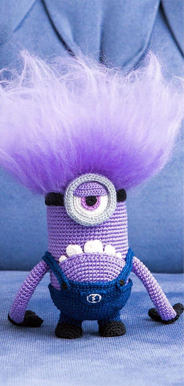 Amigurumi Evil Minion Häkeln Pinterest Crochê Bichinhos De