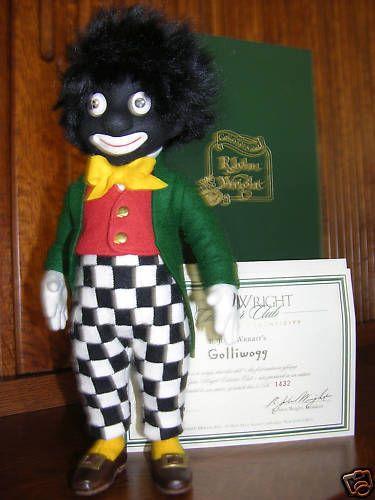 "R John Wright Golliwog Golli 11"" doll MIB from sondrakruegerantiques on Ruby Lane"
