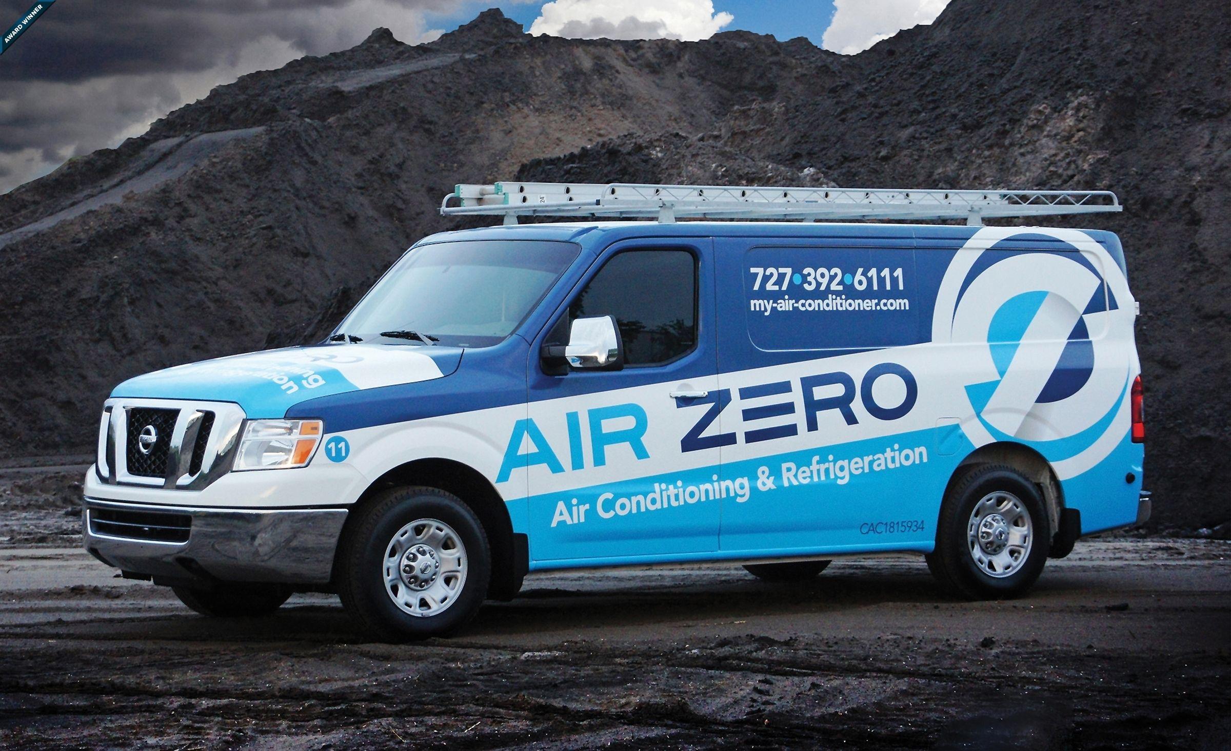 Simple car sticker design - Truck Wrap Design For Air Zero Nj Advertising Agency Nj Ad Agency Nj Web Design Nj Logo Design Website Design New Jersey Nj Graphic Designer