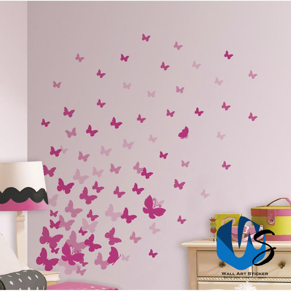 37 Mixed Sizes Butterfly Bedroom Living Room Wall Art Window