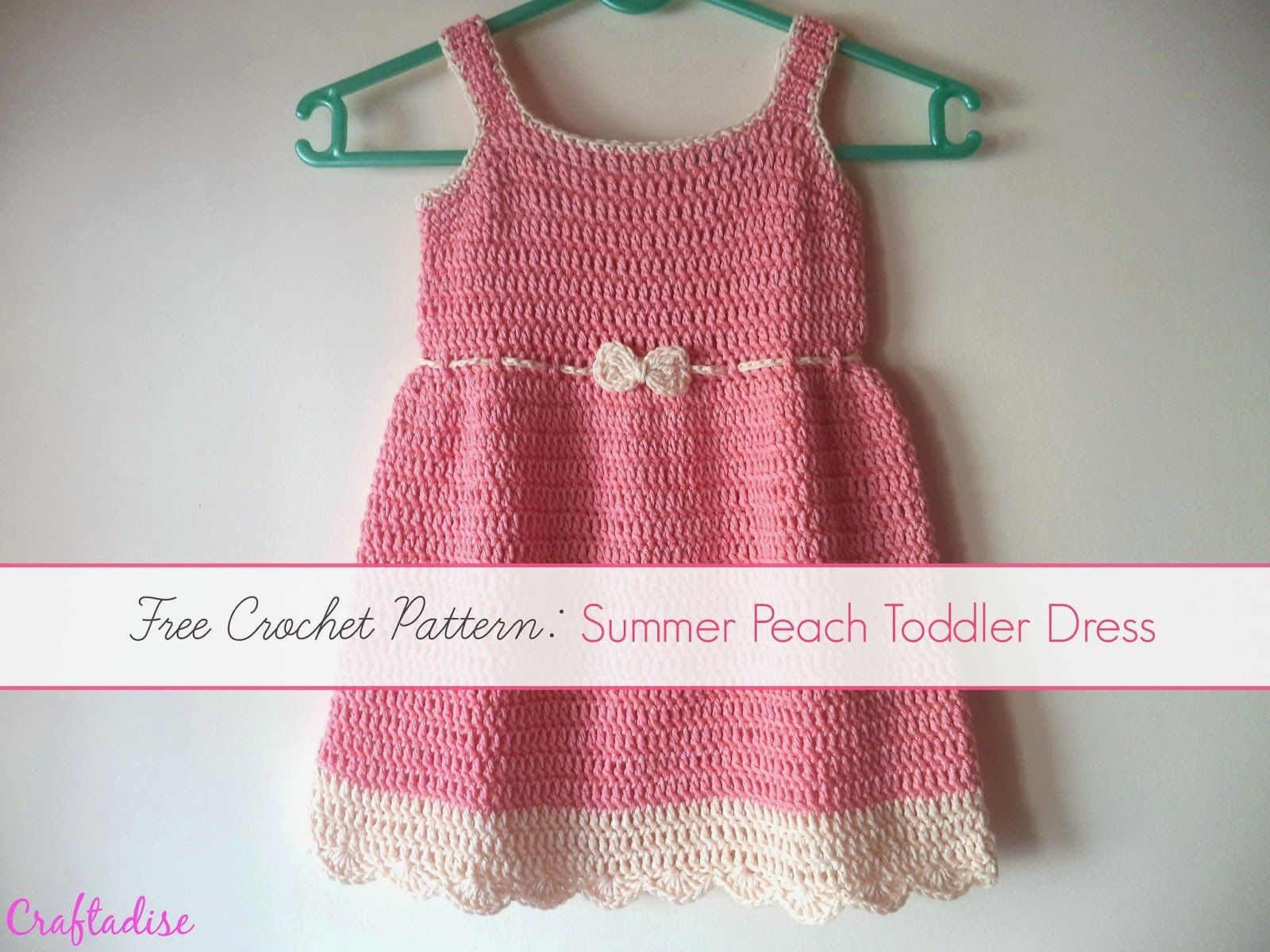 Free Crochet Pattern: Crochet Summer Peach Toddler Dress | Crochet ...