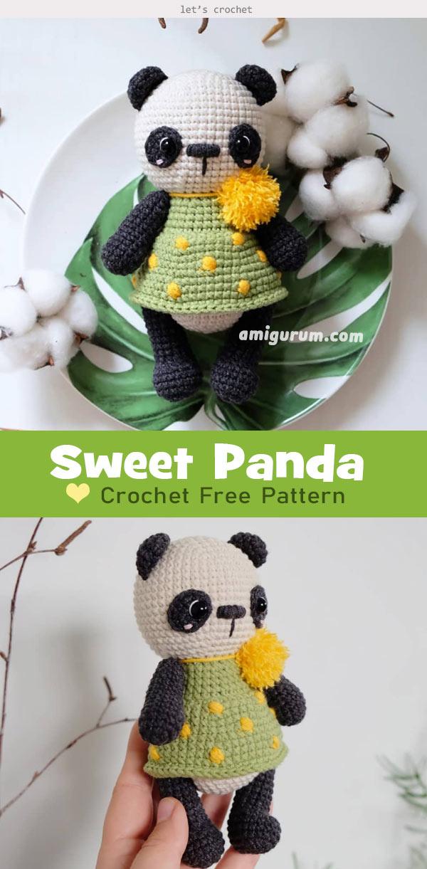Pineapple Panda crochet pattern - Amigurumi Today | 1221x600