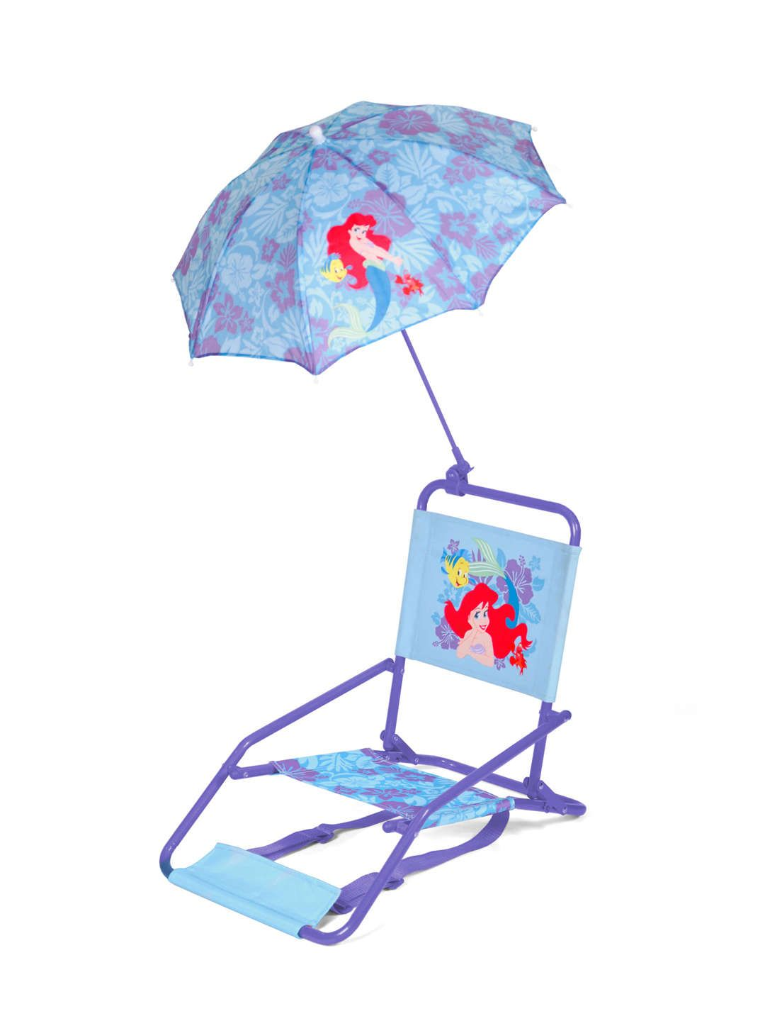 toddler beach chair with umbrella covers victoria bc disney ariel chairs and