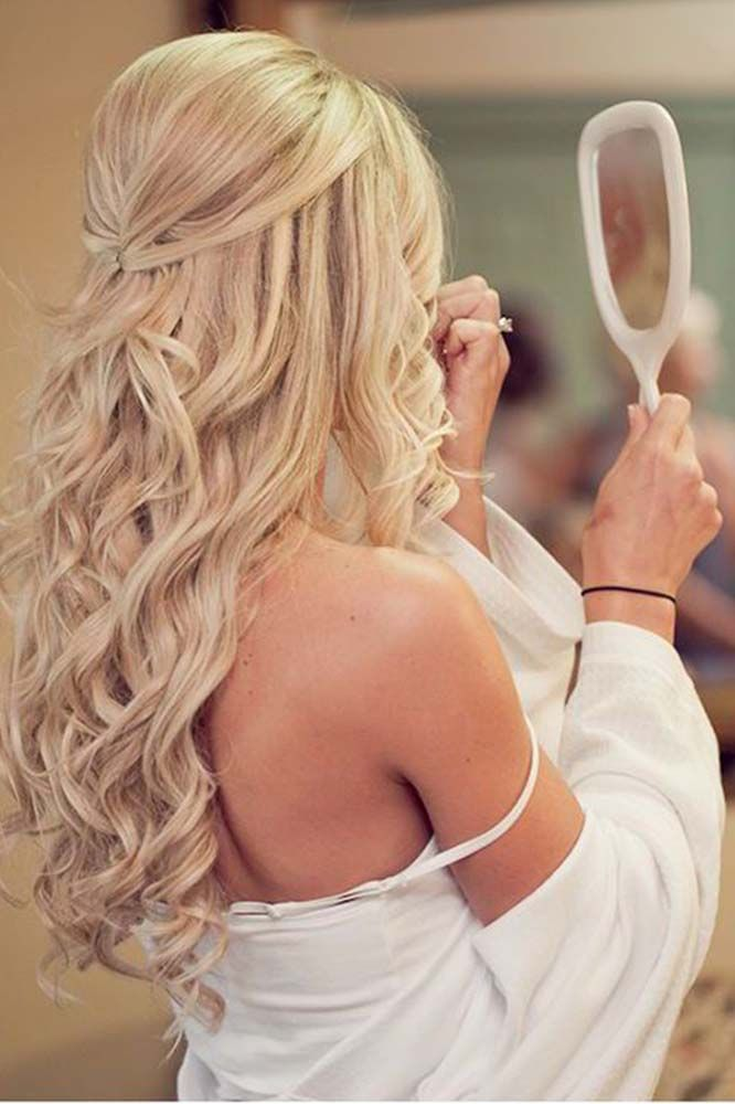 48 Perfect Bridesmaid Hairstyles Ideas Wedding Forward Curls For Long Hair Hair Styles Long Hair Styles