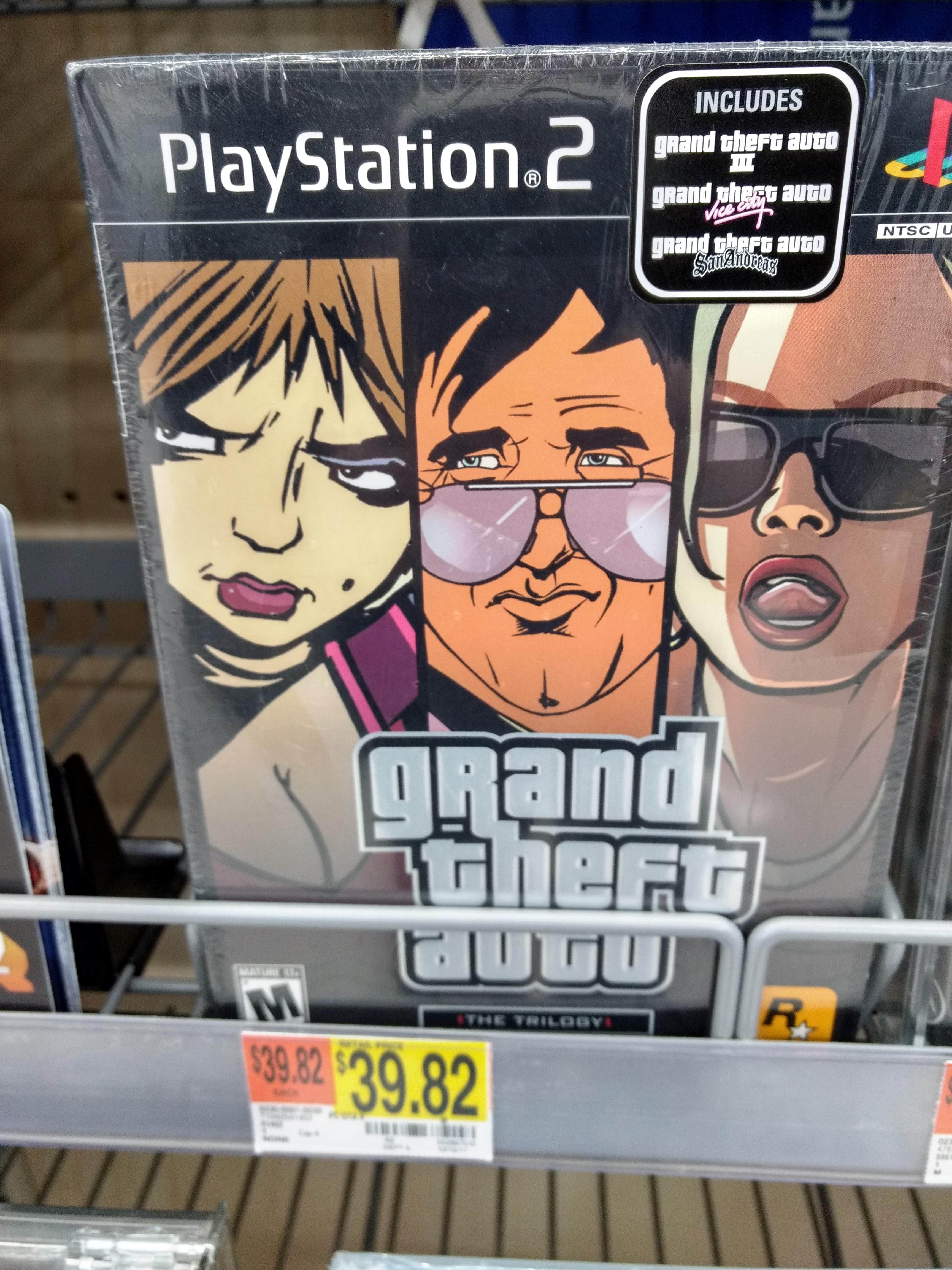 This Walmart Is Still Selling A Sealed Copy Of The Ps2 Gta