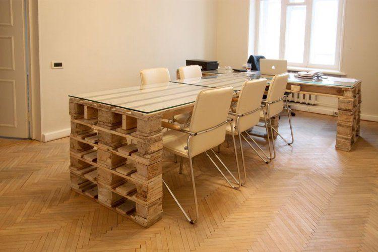 Bureau en palette bureau en bois ides diy trs cool en palette
