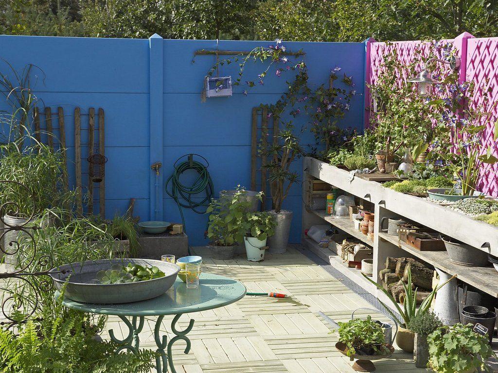 Deco Exterieure Osez Le Mur Jardin Peint En Couleur Joli Place Mur De Jardin Peindre Mur Exterieur Deco Exterieure