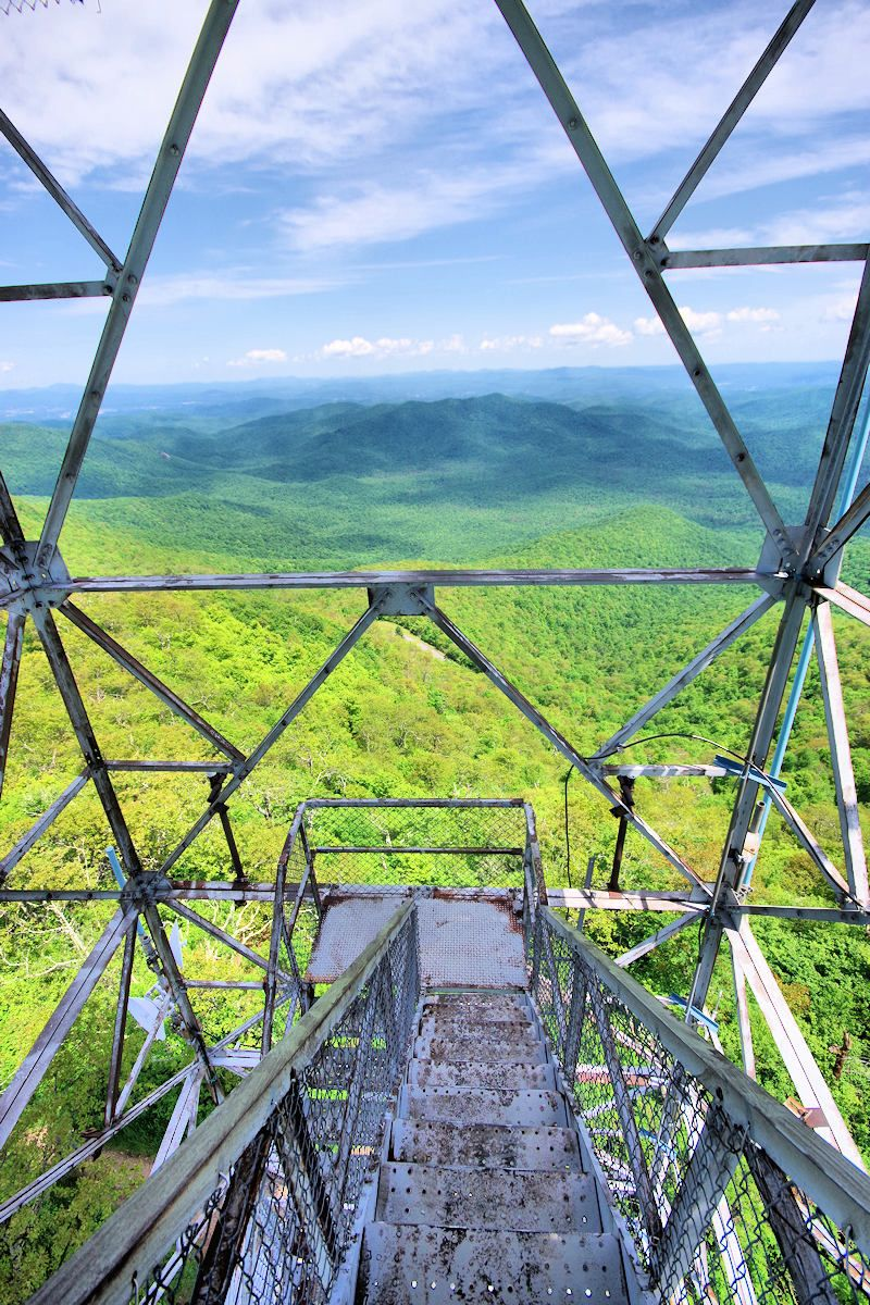 View From The Historic Fryingpan Fire Tower Above The Blue Ridge Parkway Near Mt Pisga North Carolina Travel Blue Ridge Parkway Mountain Landscape Photography