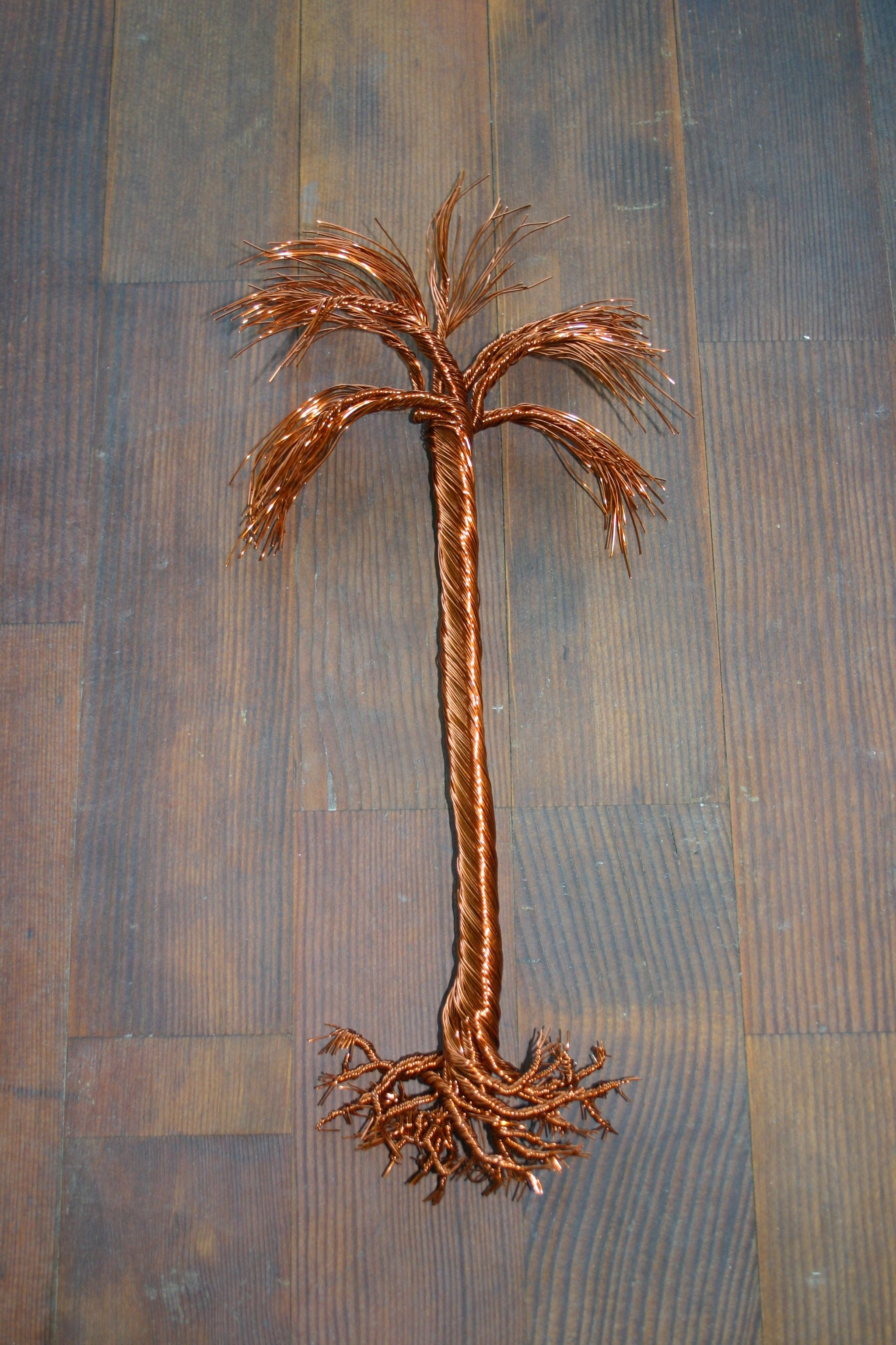 Large 15 Hanging Copper Wire Palm Tree Www Facebook Twistedforest Etsy