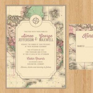 20 printable travel theme wedding invitations - Travel Themed Wedding Invitations