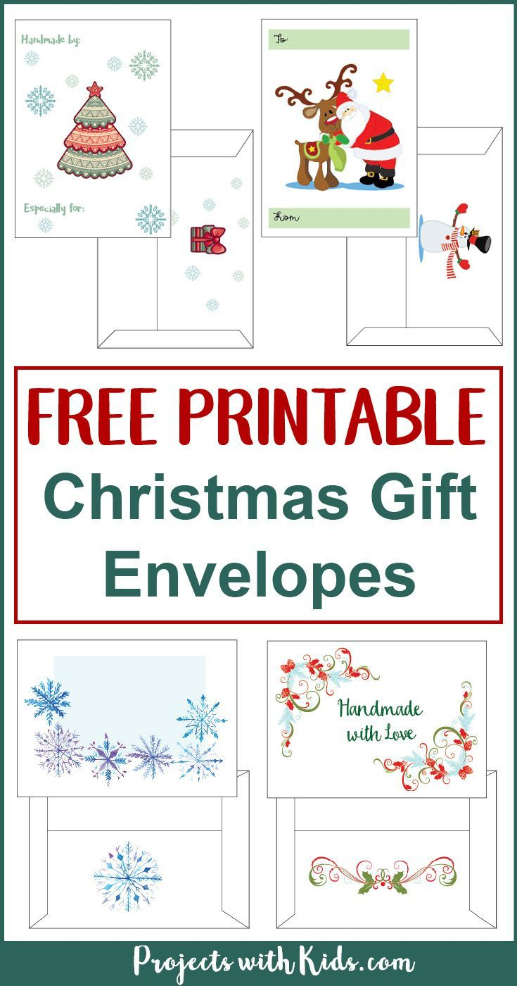 Free Printable Christmas Gift Envelopes | Free Printables, Free Printable  And Envelopes