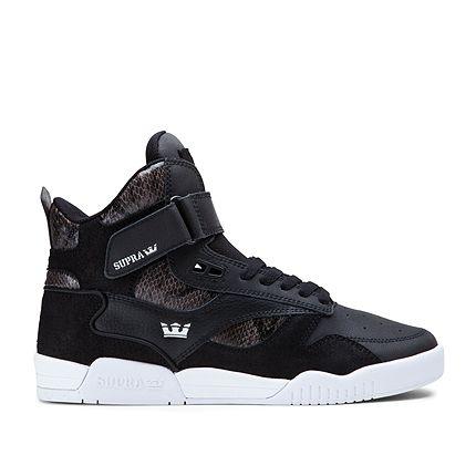 Men s Supra Bleeker Black Snake White Shoes