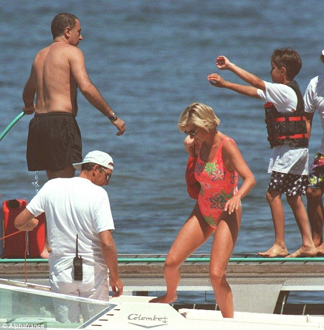 Dodi and Diana on holiday, April, 1997 - Princess Diana